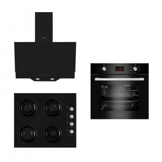 Ferre Black Elegant Plus 3'lü Ankastre Set