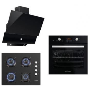 LUXELL Cam Panel Black Diamond Button Ankastre Set