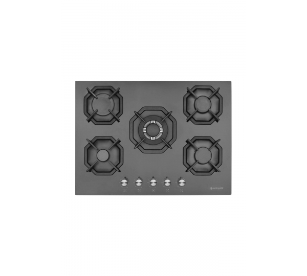 Eminçelik EC-AH 2250 BW BG70 SNG Siyah 70 CM Ankastre Ocak Woklu AH2250